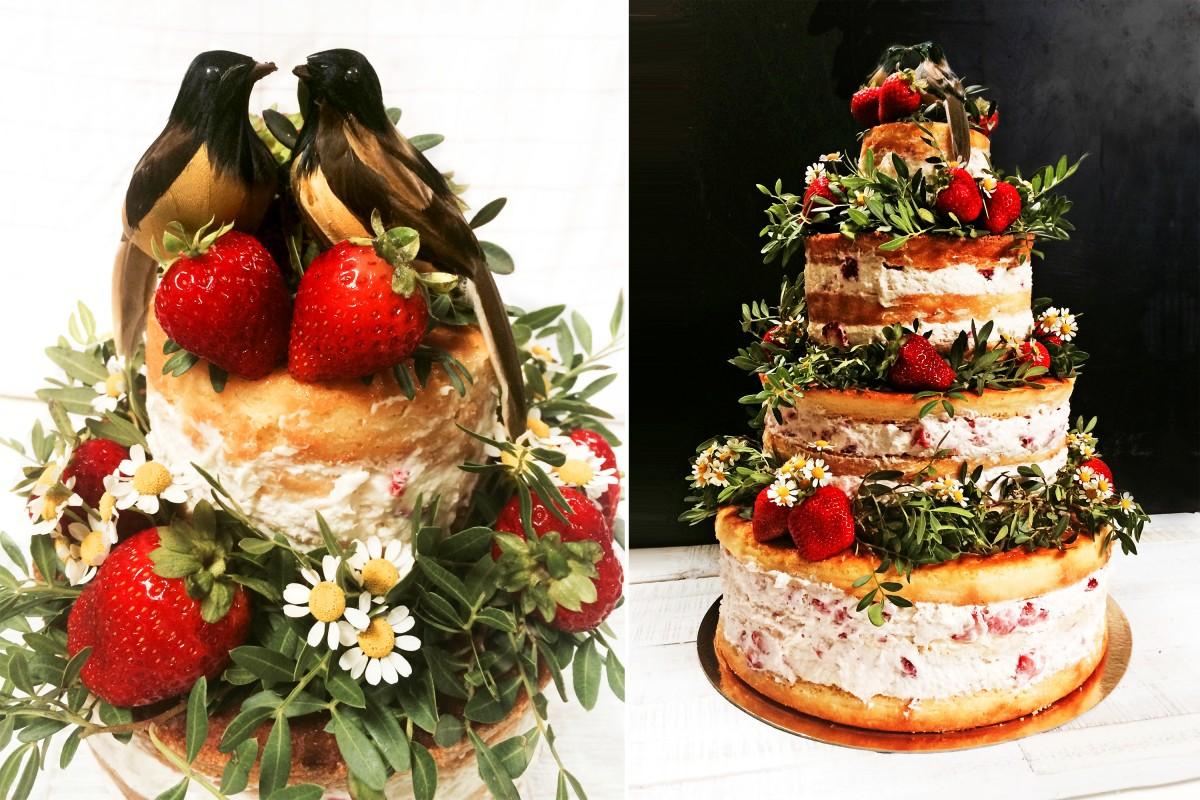 Zitronen Hochzeitstorte Mit Erdbeer Mascarpone Fullung This Pretty